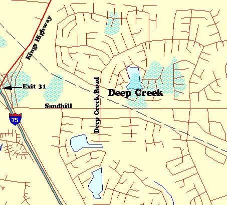 Deep Creek Florida Map.Deep Creek